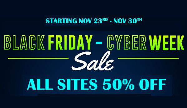 Nubiles Black Friday Nov 23 - Nov 30