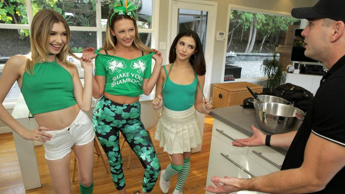 DetentionGirls Adira Allure with Jane Wilde and Mackenzie Moss doing Saint Patricks Day Sex Party - S2:E7