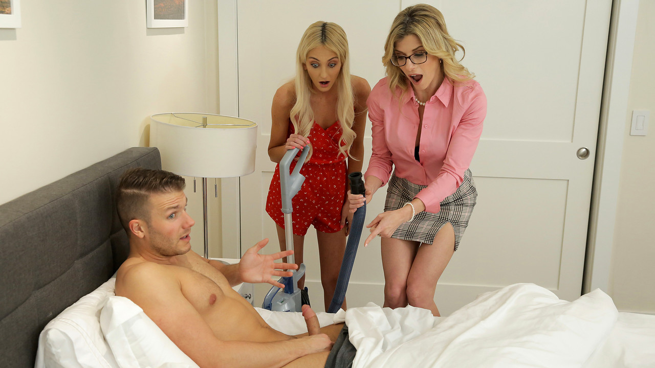 MomsTeachSex Cory Chase - Tallie Lorain - Mom His Dick Is Stuck In A Vacuum Cleaner - S13-E4