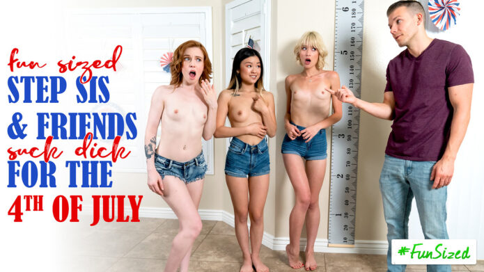 StepSiblingsCaught - Jessie Saint - Lulu Chu - Madi Collins - Take Your Fun Sized Sister And Her Friends To The Amusement Park For Fourth Of July - S17-E8